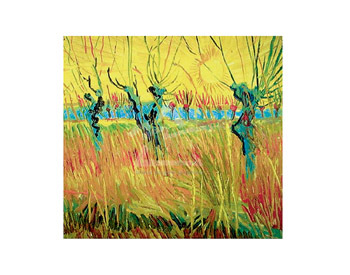 Pollarded Willow and Sunset by Vincent Van Gogh - print