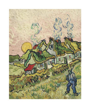 House and Figure, 1890 by Vincent Van Gogh - print