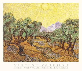 The Olive Trees by Vincent Van Gogh - print