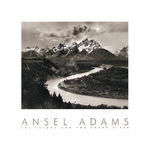 The Tetons and the Snake River (embossed) by Ansel Adams - print