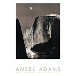 Moon and Half Dome (embossed) by Ansel Adams - print