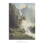 Bridal Veil Falls, Yosemite, ca 1871-73 by Albert Bierstadt - framed art prints and framed pictures