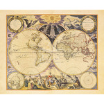 New World Map, 1676 by Pieter Goos - print