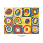 Farbstudie Quadrate by Wassily Kandinsky - framed art prints and framed pictures