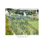 Vineyards at Auvers, 1890 by Vincent Van Gogh - print