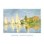 Regatta at Argenteuil by Claude Monet - print