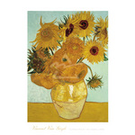 Sunflowers on Blue, 1888 by Vincent Van Gogh - print
