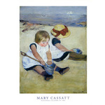 Children Playing on the Beach by Mary Cassatt - print