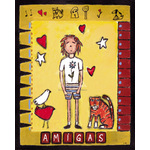 Amigas by L. Mason - framed art prints and framed pictures
