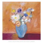Blue Vase with Flowers by Nancy Ortenstone - print