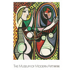 Girl Before a Mirror by Pablo Picasso - framed art prints and framed pictures