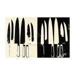 Knives, c. 1981-82 (cream and black) by Andy Warhol - print