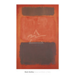 Brown and Black in Reds, 1957 by Mark Rothko - framed art prints and framed pictures
