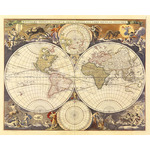 New World Map, 17th Century by Nicholas Visscher - print