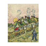 House and Figure, 1890 by Vincent Van Gogh - framed art prints and framed pictures