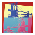 Brooklyn Bridge, 1983 (giclee) by Andy Warhol - framed art prints and framed pictures