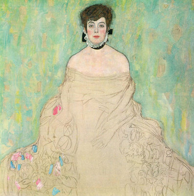 Portrait of Amalie Zuckerkandl unfinished, 1917-1918 Poster Art Print by Gustav Klimt