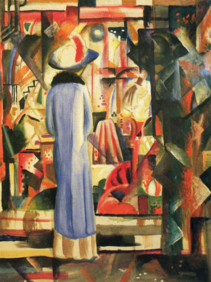 Fine Art Print of Large Bright Showcase by August Macke