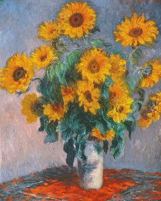 Vase of Sunflowers Poster Art Print by Claude Monet
