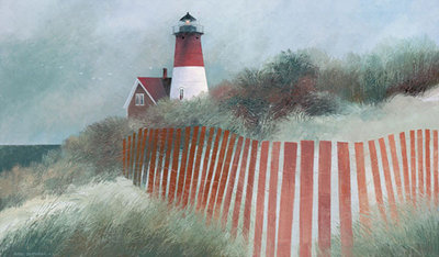 Old Nauset Light Poster Art Print by Albert Swayhoover