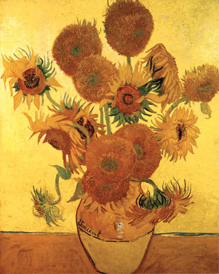 Sunflowers on Gold, 1888 Poster Art Print by Vincent Van Gogh