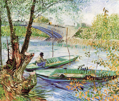 A Fisherman in His Boat Poster Art Print by Vincent Van Gogh