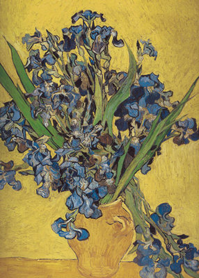 Irises in Vase Poster Art Print by Vincent Van Gogh