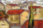 Village View Poster Art Print by Susan Osbjorn