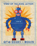 Boris Box Art Robot Poster Art Print by Monster Riot