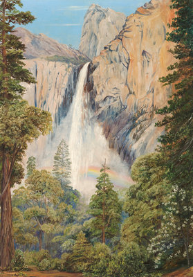 196. Rainbow over the Bridal Veil Fall, Yosemite, California Poster Art Print by Marianne North