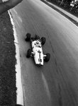 Fine Art Print of 1967 Italian Grand Prix. Monza, Italy. 10 September 1967. John Surtees, Honda RA300, 1st position, action. by Anonymous