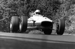 Fine Art Print of 1967 German Grand Prix. Nurburgring, Germany. 6 August 1967. John Surtees, Honda RA273, 4th position, jump, action. by Anonymous