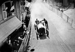 Fine Art Print of 1906 French Grand Prix. Le Mans, France. 26-27 June 1906. Alessandro Cagno (Itala 120hp) retires at Commerre. by Anonymous