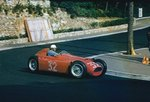 1955 Monaco Grand Prix. Monte Carlo, Monaco. 19-22 May 1955. Louis Chiron (Lancia D50) 6th position, at Station Hairpin. Poster Art Print by Anonymous