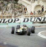 1966 Monaco GP, Monte Carlo, Jim Clark, Lotus 33-Climax at the Station Hairpin Poster Art Print by Anonymous