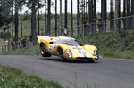 1969 Nurburgring 1000kms. Nurburgring, Germany. 1st June 1969. Jo Bonnier/Herbert Muller, Lola T70 Mk3B, retired, action. Poster Art Print by Anonymous