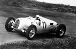 Fine Art Print of 1936 Eifelrennen. Nurburgring, Germany. 14 June 1936. Ernst von Delius, Auto Union C, 9th position, action. by Anonymous