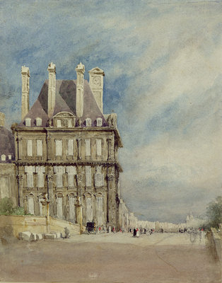 Pavillon de Flore, Tuileries, Paris by David Cox - print