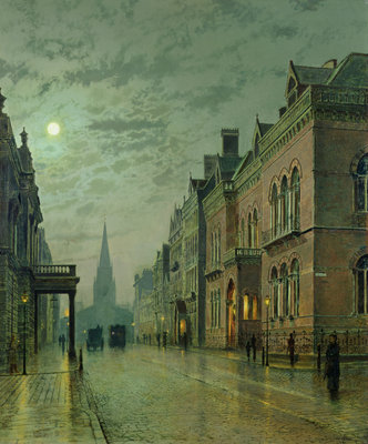 Park Row, Leeds, 1882 by John Atkinson Grimshaw - print