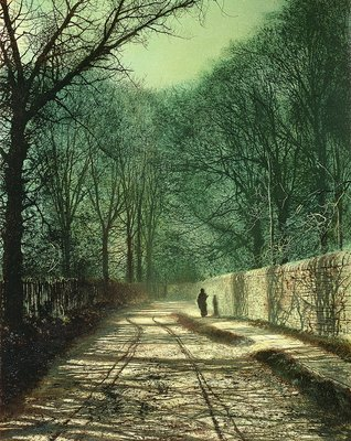 Tree Shadows in the Park Wall, Roundhay, Leeds, 1872 by John Atkinson Grimshaw - print