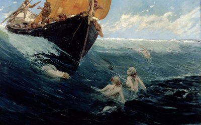 The Mermaid's Rock, 1894 by Edward Matthew Hale - print