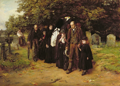 I am the Resurrection and the Life, or The Village Funeral, 1872 by Frank Holl - print