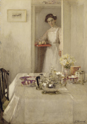 The Breakfast Table, 1907 by Henry Silkstone Hopwood - print