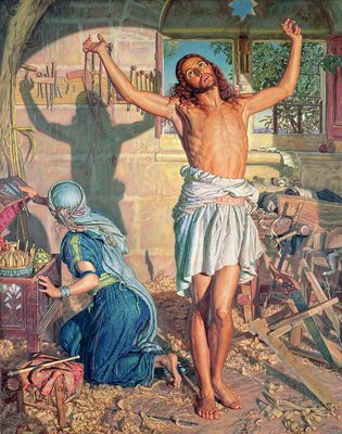Fine Art Print of The Shadow of Death, 1870-73 by William Holman Hunt