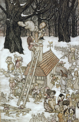 The House Built for Maimie, 1906 by Arthur Rackham - print