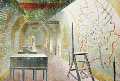 No 1 Map Corridor, 1940 by Eric Ravilious - print