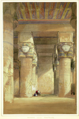 Dendera ancient Tentyris, 1838 by David Roberts - print