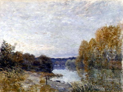 Soleil Couchant, or Autumn Evening on the River, 1895 by Alfred Sisley - print
