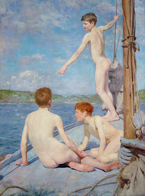 The Bathers, 1889 by Henry Scott Tuke - print