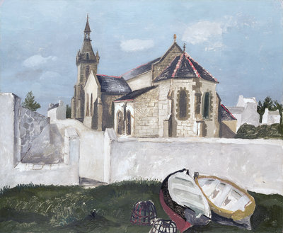 Treboul Church, Brittany, 1930 by Christopher Wood - print